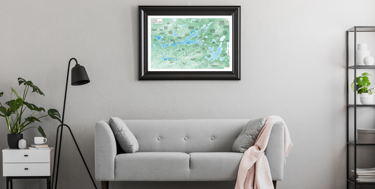 Go Explore series map on wall